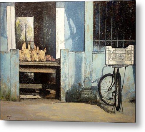 Colmado Metal Print featuring the painting Colmado-Havana by Tomas Castano
