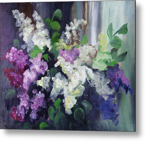Art Metal Print featuring the digital art Composition Of Lilac by Balticboy