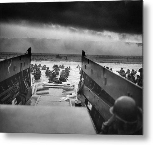 D Day Metal Print featuring the photograph D-Day Landing by War Is Hell Store