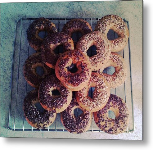 Flax Seed Metal Print featuring the photograph Homemade Bagels by Lasse Kristensen