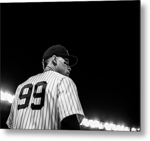 People Metal Print featuring the photograph Houston Astros v New York Yankees by Rob Tringali/Sportschrome
