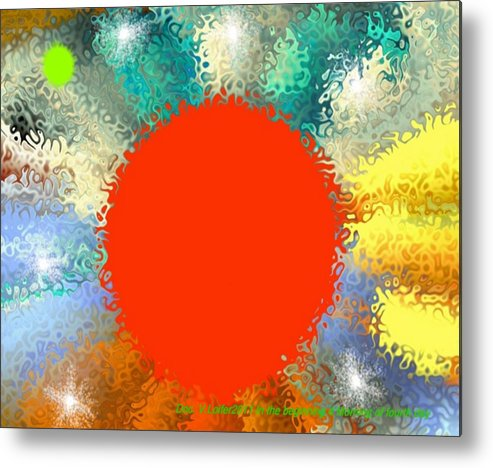 Creation Metal Print featuring the digital art In the beginning 4. Morning of fourth day by Dr Loifer Vladimir