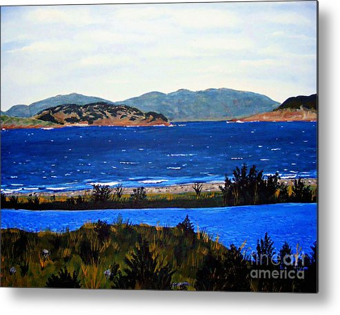 Islands Metal Print featuring the painting Iona formerly Rams Islands by Barbara Griffin
