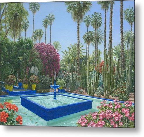 Le Jardin Majorelle Marrakech Morocco Metal Print By Richard Harpum