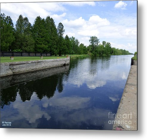 Landscape Metal Print featuring the photograph Lock 21 by Rennae Christman