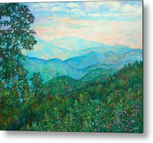 Landscape Metal Print featuring the painting Near Purgatory by Kendall Kessler
