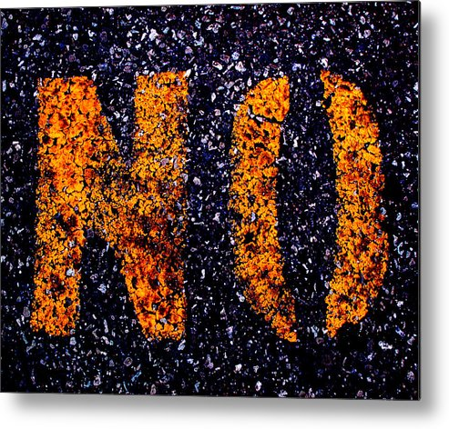 Abstract Metal Print featuring the photograph NO by Lyle Crump