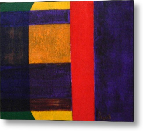 Abstract Metal Print featuring the painting No.398 by Vijayan Kannampilly