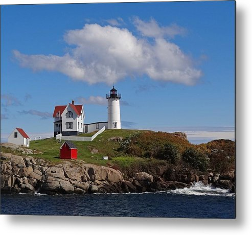 Tranquility Metal Print featuring the photograph Nubble Lighthouse by Photo Jacques Trempe
