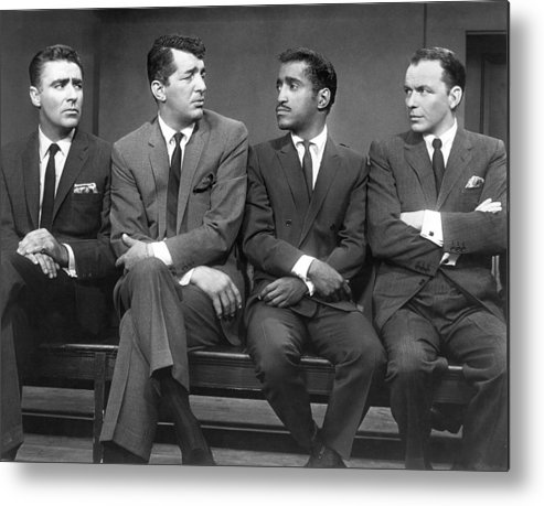 1960 Metal Print featuring the photograph Ocean's Eleven Rat Pack by Underwood Archives