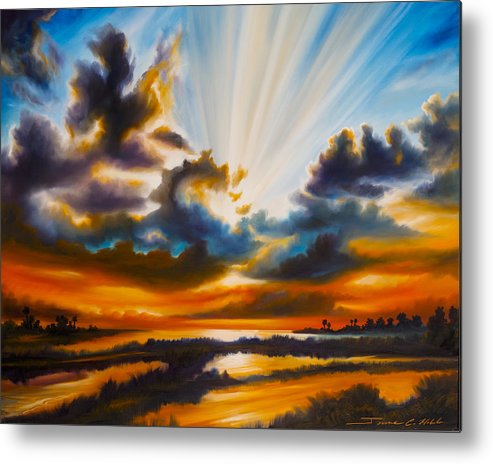 Sunrise Metal Print featuring the painting Paradise by James Christopher Hill