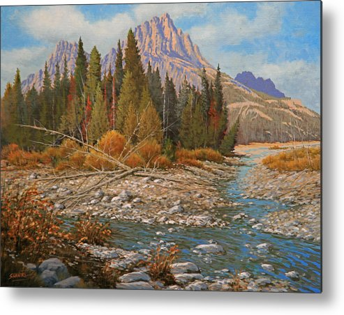 Creek Metal Print featuring the painting Rocky Creek 111105-1418 by Kenneth Shanika