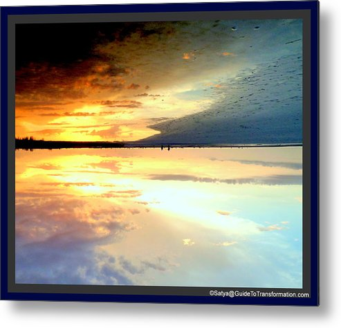 Water Metal Print featuring the photograph Sky Meets Water by Satya Winkelman