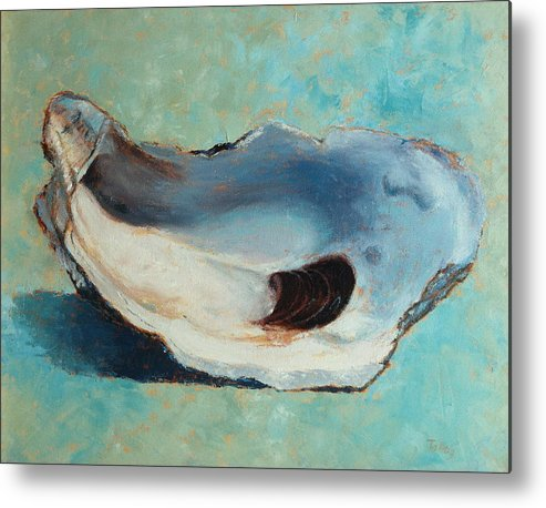 Oyster Metal Print featuring the painting Slurp by Pam Talley