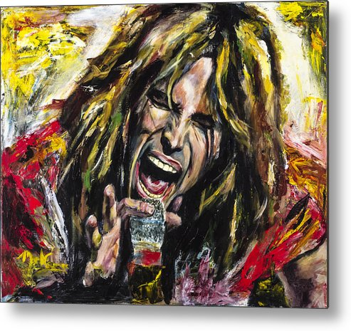 Steven Tyler Metal Print featuring the painting Steven Tyler by Mark Courage