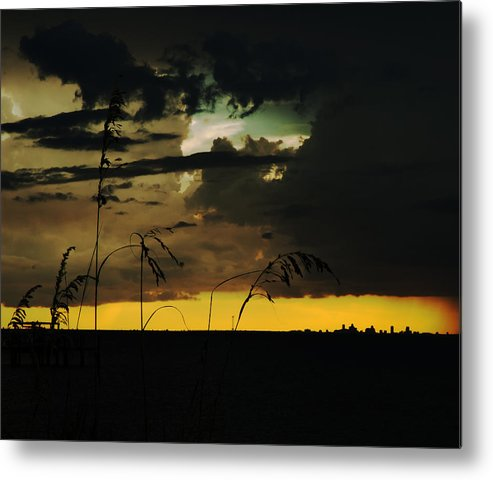 Sunset Metal Print featuring the photograph Sunset Silhouette by Norman Johnson