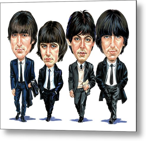 The Beatles Metal Print featuring the painting The Beatles by Art