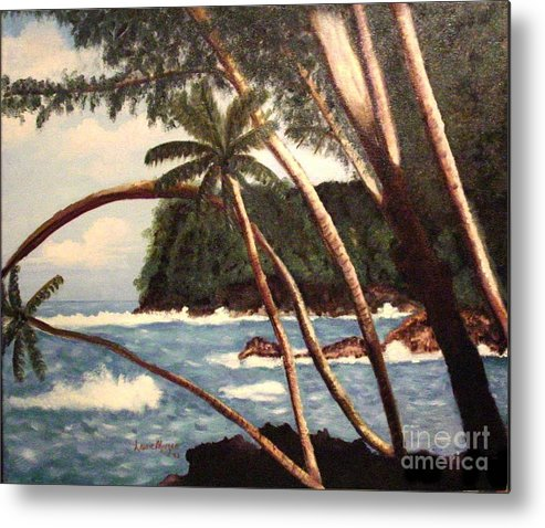 Hawaii Metal Print featuring the painting The Big Island by Laurie Morgan