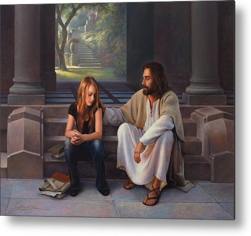 Jesus Metal Print featuring the painting The Master's Touch by Greg Olsen