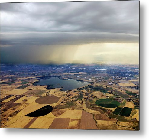 Tranquility Metal Print featuring the photograph Thunderstorm Over Denver, Colerado by Gail Shotlander