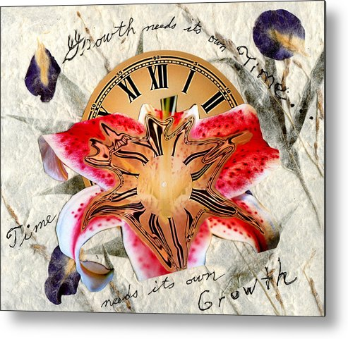 Time Metal Print featuring the digital art Timeflower by Lisa Yount