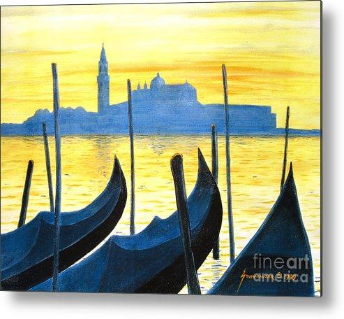 Venice Metal Print featuring the painting Venezia Venice Italy by Jerome Stumphauzer