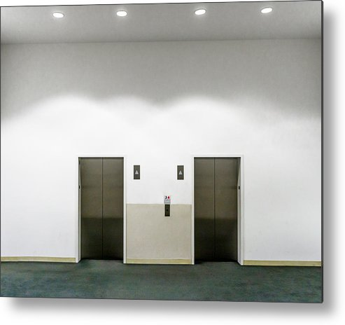 Empty Metal Print featuring the photograph View Of Elevators by Jesse Coleman / EyeEm