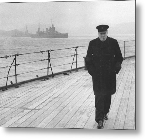 Churchill Metal Print featuring the photograph Winston Churchill by English Photographer