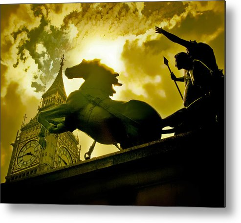 Statue Metal Print featuring the photograph London by Jim Painter