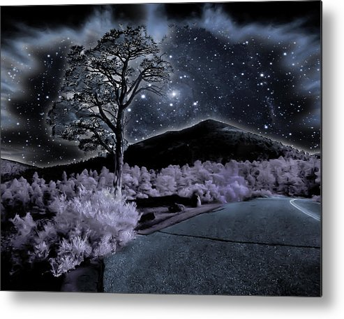 ;blue Metal Print featuring the photograph Sunset Crater by Jim Painter