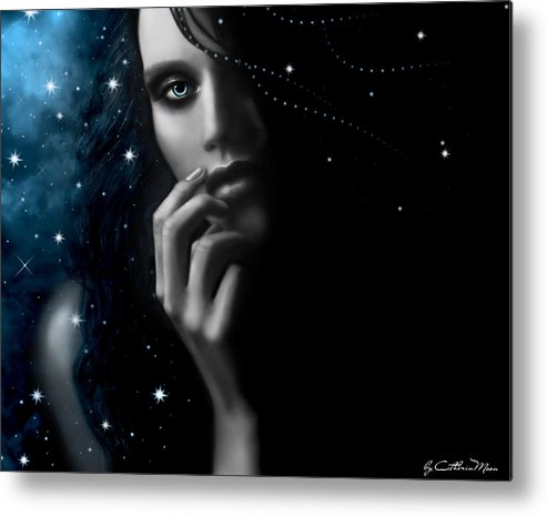 Stars Metal Print featuring the digital art Mystery by Catherin Moon