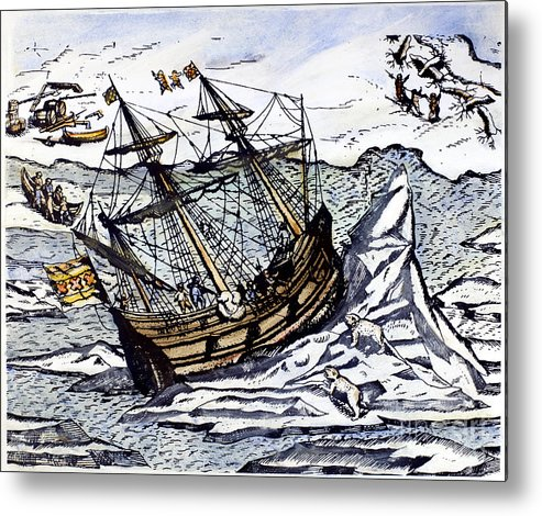 1590s Metal Print featuring the photograph Willem Barents (c1550-1597) by Granger