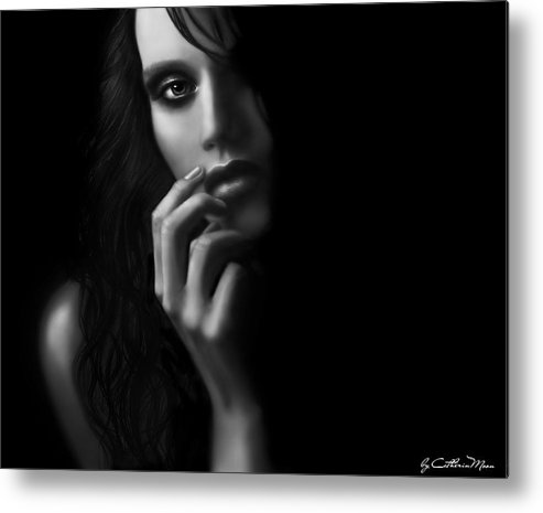 Mystery Metal Print featuring the digital art Dark Mystery by Catherin Moon