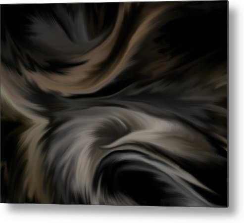 Feather Metal Print featuring the digital art Feathers by BJ Crank