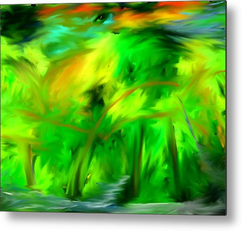 Forest Metal Print featuring the digital art The Forest by Kelly Turner