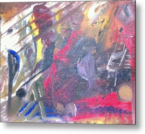 Abstract Metal Print featuring the painting The Grand Musician by Mae Hermansen