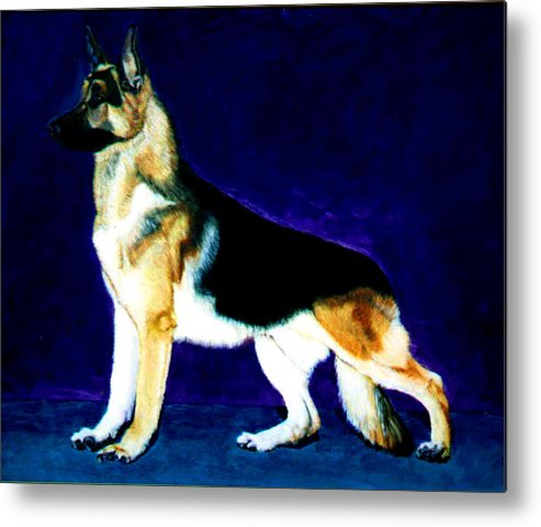 Dog Portrait Metal Print featuring the painting Champion by Stan Hamilton