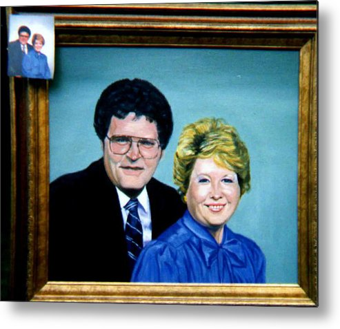 Double Portrait Metal Print featuring the painting Double Portrait by Stan Hamilton