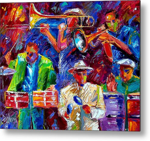 Jazz Art Metal Print featuring the painting Latin Jazz by Debra Hurd