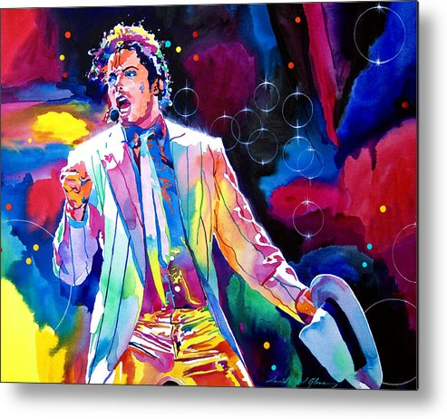 Michael Jackson Metal Print featuring the painting Michael Jackson Smooth Criminal by David Lloyd Glover