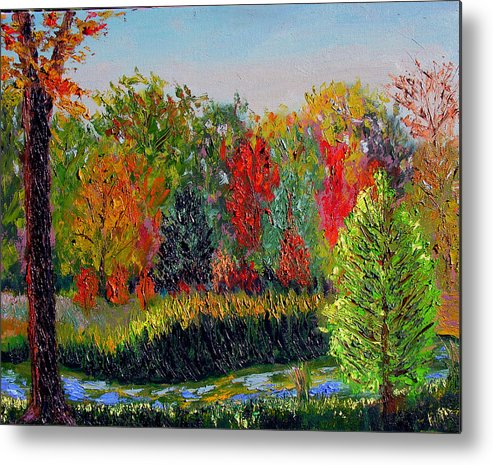 Landscape Metal Print featuring the painting Sewp 10 10 by Stan Hamilton
