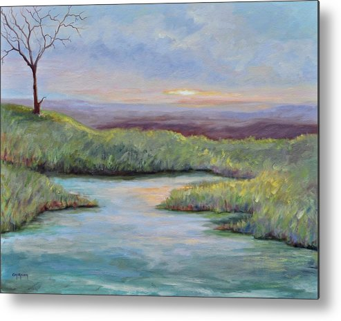 Lone Trees Metal Print featuring the painting Soledad by Ginger Concepcion