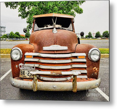 Classic Metal Print featuring the photograph 1950 Tn Chevy Pick Up by Sue M Marshall