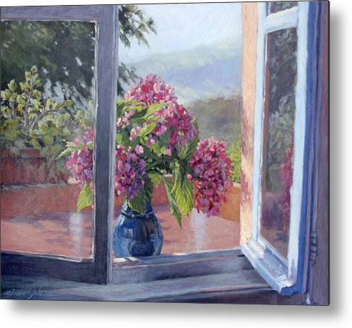 Landscape Painting Metal Print featuring the painting A Brand New Day by L Diane Johnson