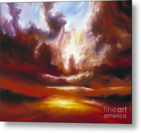 Tempest Metal Print featuring the painting A Cosmic Storm - Genesis V by James Christopher Hill