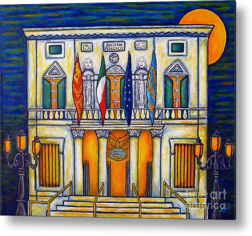 Theatre Metal Print featuring the painting A Night at the Fenice by Lisa Lorenz
