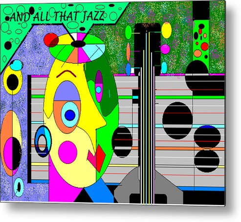 Music Metal Print featuring the digital art All that jazz by George Pasini