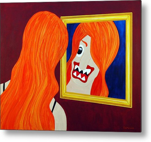 Funism Metal Print featuring the painting Allure by Sal Marino