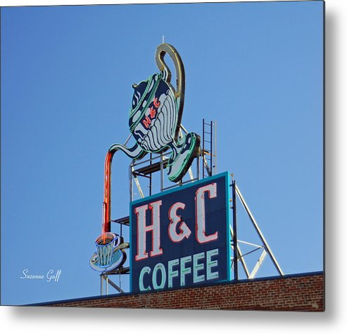 H & C Coffee Metal Print featuring the photograph Americana Series III by Suzanne Gaff