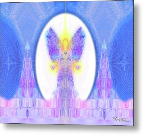 444 Metal Print featuring the digital art Angel Crystals 444 by Barbara Tristan